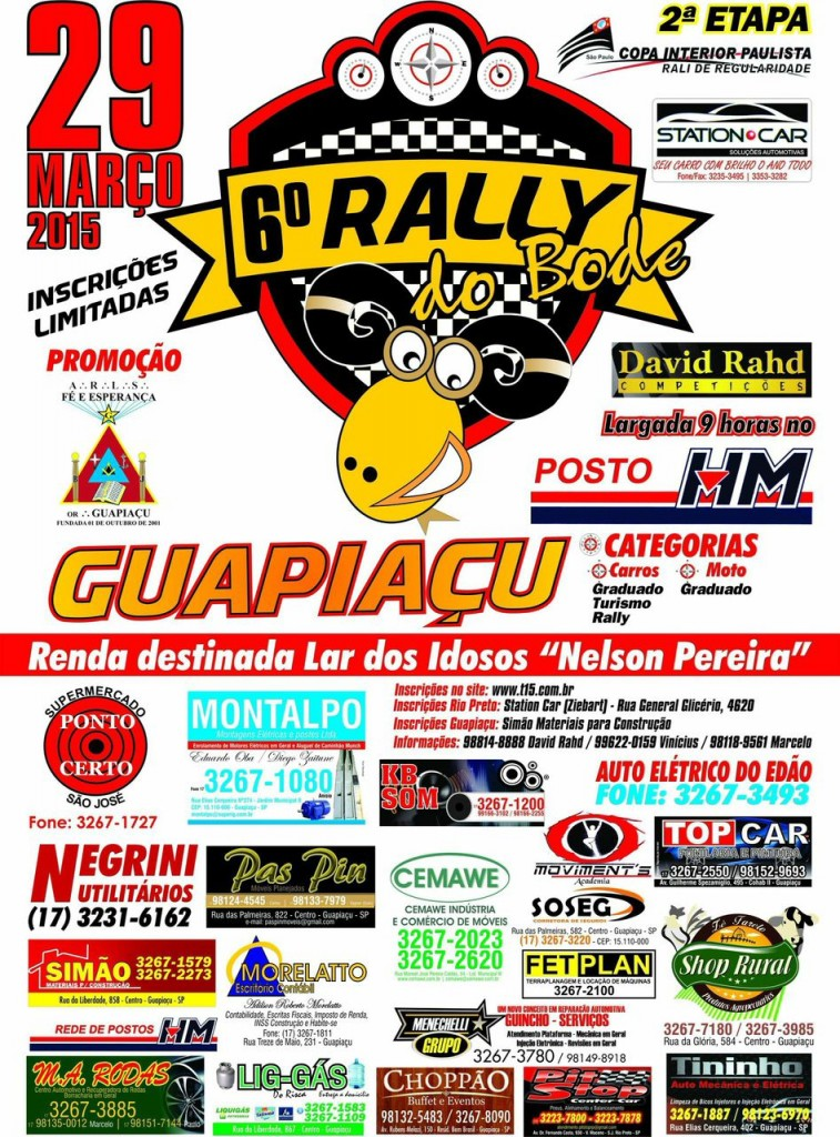 6º Rally do Bode - Guapiaçu SP